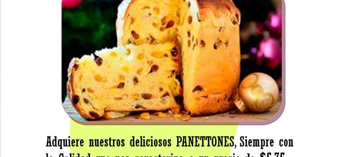 EXQUISITOS PANETTONES  PAN PEZZUTO