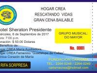 XVII NOCHE  ESTELAR  CREA, RESCATANDO  VIDAS
