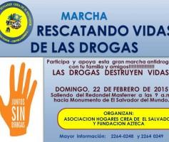 Marcha Rescatando Vidas de las Drogas